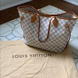 Louis Vuitton Neverfull MM Damier Azur Canvas